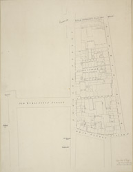 [Drawn plan of the property between Swallow Street and King Street from Beak Street to Major Foubert's Passage]